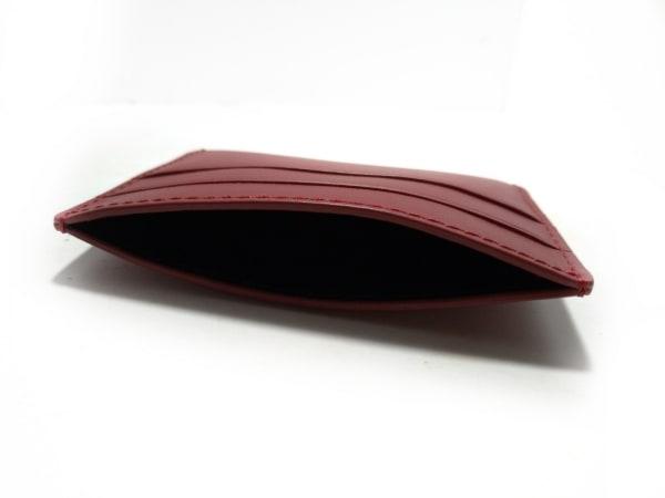 theory(セオリー) カードケース美品  レッド レザー