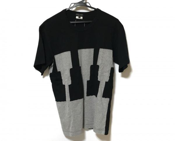 コムデギャルソンオムプリュス 半袖Tシャツ サイズS メンズ美品  黒×グレー