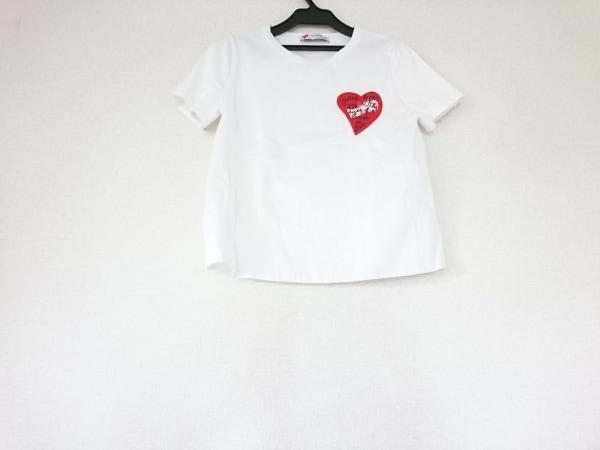 VALENTINO(バレンチノ) 半袖Tシャツ レディース 白×レッド×黒