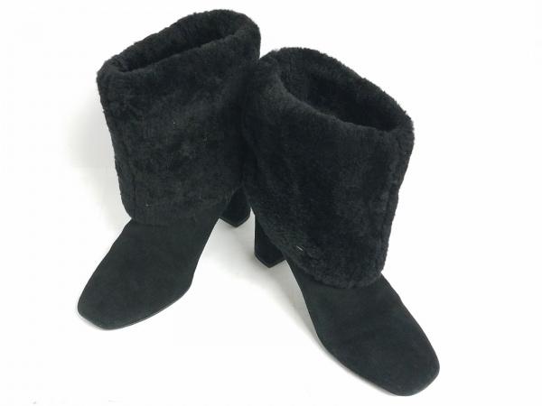 ROCKPORT(ロックポート) ブーツ 23 レディース 黒 スエード×化学繊維
