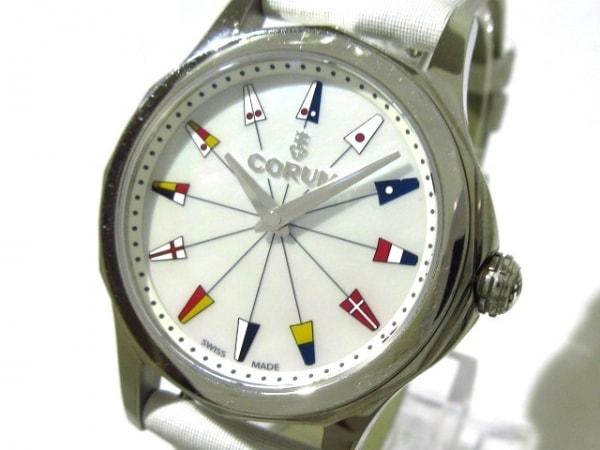 コルム 腕時計 アドミラルズカップ 01.0132 レディース シェル文字盤 ホワイトシェル