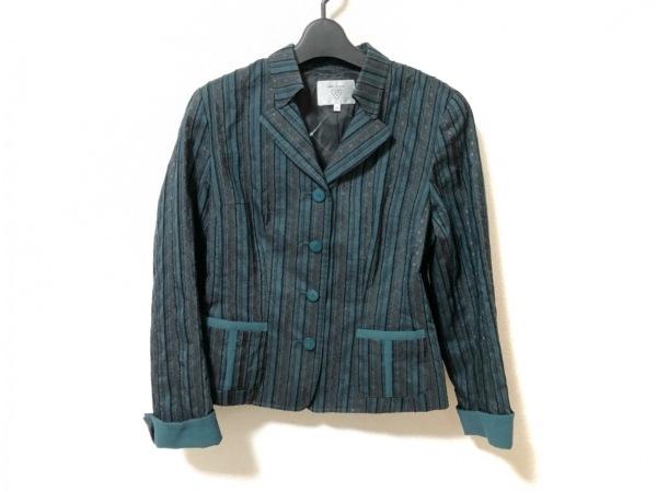 ビルダジュール ジャケット サイズ40 M レディース美品  ダークグリーン×黒×マルチ