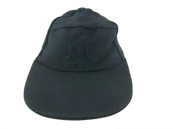 MOTSCH HERMES(モッチ エルメス) キャップ 58美品  黒 ポリアミド×ポリウレタン