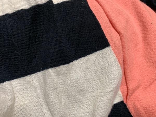 ツモリチサト ワンピース レディース ピンク×黒×アイボリー ニット/ボーダー