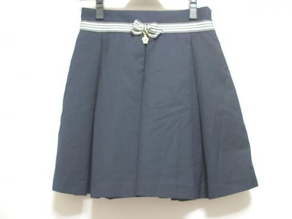 シークレットハニー ミニスカート サイズ2 M レディース ダークネイビー×白