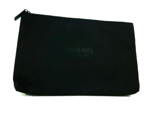CHANEL PARFUMS(シャネルパフューム) ポーチ美品  黒 化学繊維