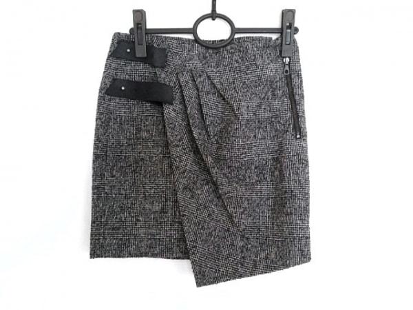 ラグアンドボーン 巻きスカート サイズ0 XS レディース美品  黒×グレー×マルチ