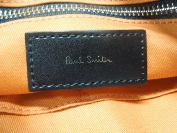 PaulSmith(ポールスミス) ショルダーバッグ ネイビー×ダークブラウン×オレンジ