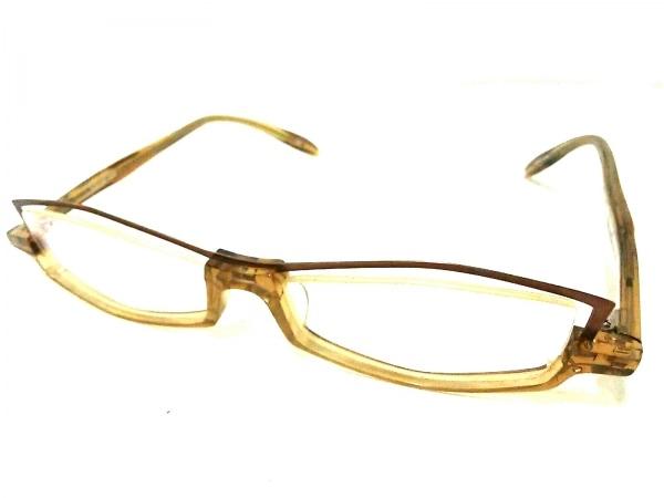 レスザンヒューマン メガネ美品  クリア×ライトブラウン プラスチック