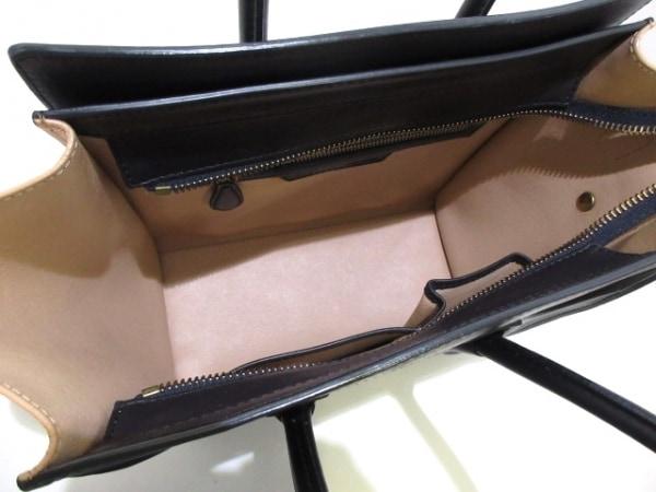 CELINE(セリーヌ) トートバッグ ラゲージマイクロショッパー 黒×カーキ×ベージュ