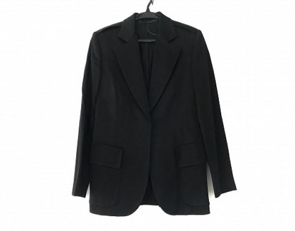 GUCCI(グッチ) ジャケット サイズ42 M レディース美品  黒 肩パッド/光沢