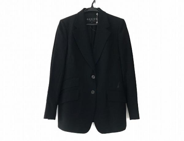 GUCCI(グッチ) ジャケット サイズ42 M レディース 黒 肩パッド