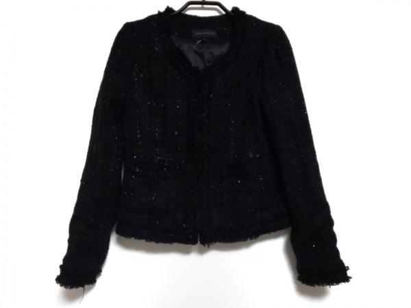 マーキュリーデュオ ジャケット サイズF レディース 黒×シルバー ツイード/ラメ