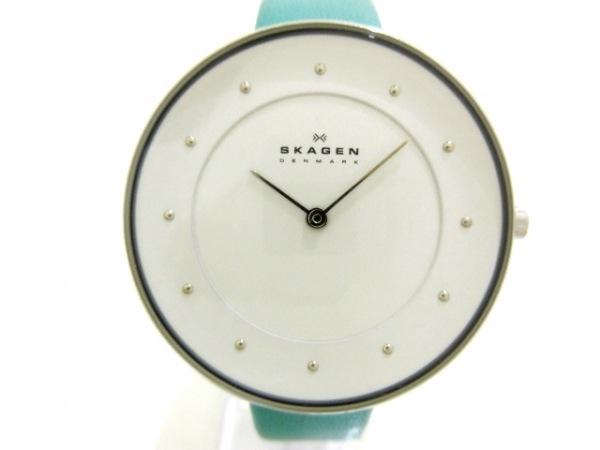SKAGEN(スカーゲン) 腕時計 SKW2134 レディース 革ベルト 白