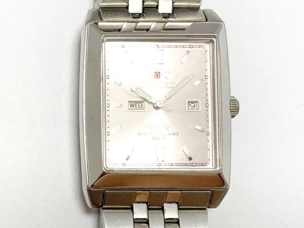ORIENT(オリエント) 腕時計美品  スリースター NQAA-C1 CS ボーイズ ピンク