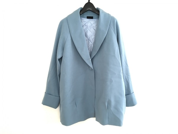 アパートバイローリーズ コート サイズM レディース美品  ライトブルー