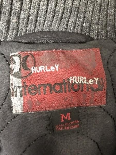 Hurley(ハーレー) ブルゾン サイズM メンズ 黒 ジップアップ/冬物