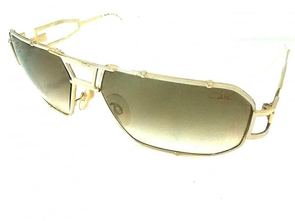カザール サングラス MOD.946 ゴールド×白×ダークブラウン 金属素材×プラスチック