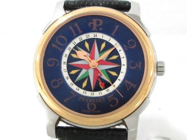 PERRELET(ペルレ) 腕時計 - メンズ 裏スケ ネイビー×マルチ