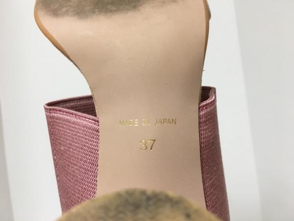 furfur(ファーファー) ミュール 37 レディース ピンク×ベージュ 化学繊維×スエード