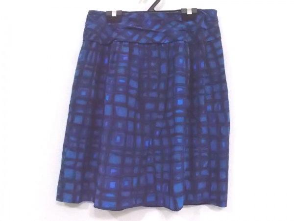トゥモローランド スカート サイズ38 M レディース美品  ブルー チェック柄