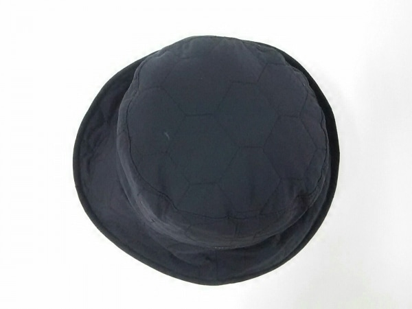 BURBERRYGOLF(バーバリーゴルフ) ハット新品同様  黒×白 チェック柄/キルティング