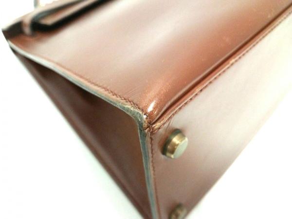 HERMES(エルメス) ハンドバッグ ケリー28 ブラウン※実物は正面画像に近いお色です。