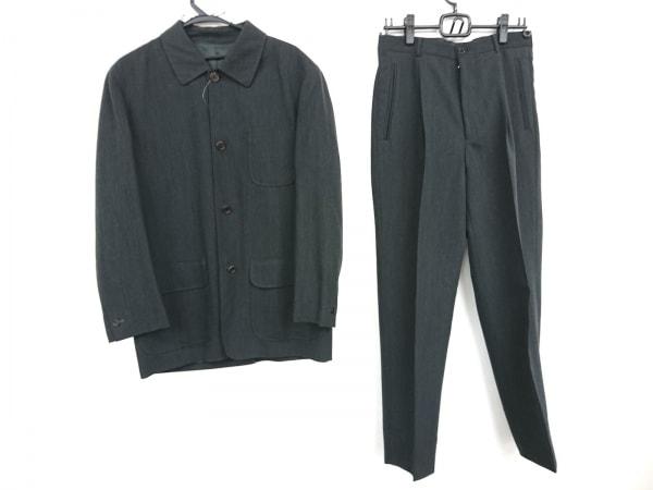 アドルフォドミンゲス シングルスーツ サイズ48 XL メンズ美品  ダークグレー