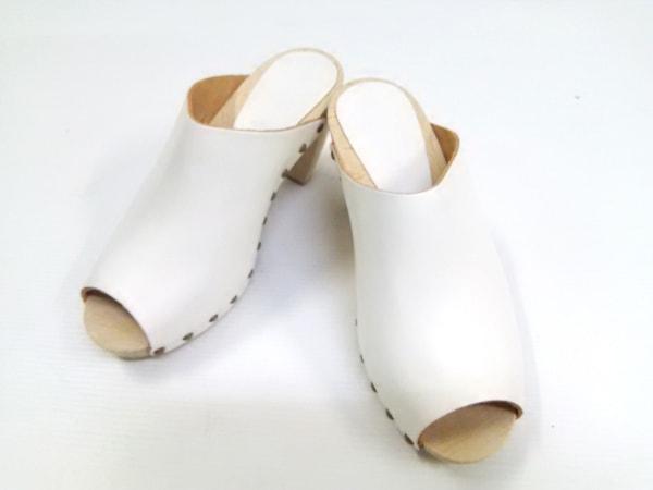 BOSABO(ボサボ) ミュール 37 レディース美品  白 レザー