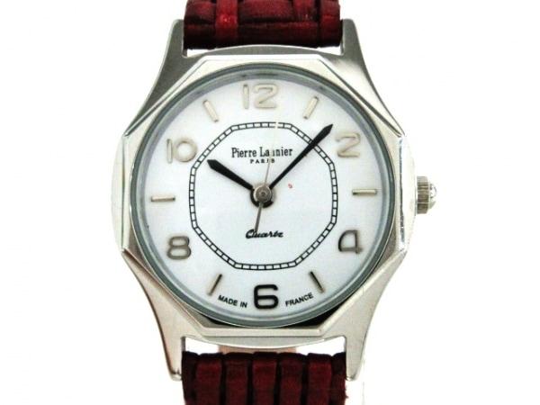 PierreLannier(ピエールラニエ) 腕時計美品  043/6 レディース 革ベルト 白
