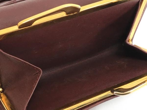 Cartier(カルティエ) 3つ折り財布 マストライン ボルドー がま口 レザー