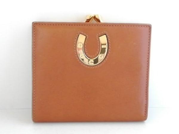 GUCCI(グッチ) 2つ折り財布 - 178040 ブラウン がま口 レザー