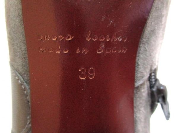 CHIE MIHARA(チエミハラ) ショートブーツ 39 レディース グレー×シルバー ドット柄