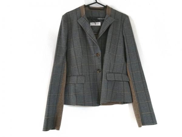 トゥルートラサルディ ジャケット サイズ40 M レディース美品  チェック柄