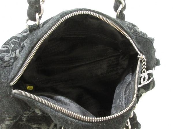 CHANEL(シャネル) ショルダーバッグ美品  - 黒×ダークグレー パイル