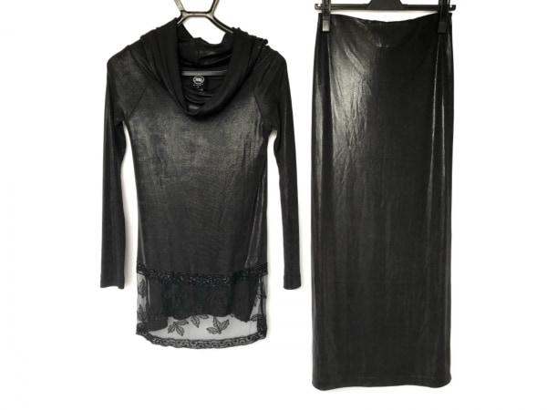 LAPERLA(ラペルラ) スカートセットアップ サイズ42 L レディース新品同様  黒 ビーズ