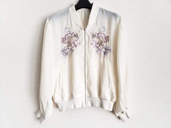 Bou Jeloud(ブージュルード) ブルゾン サイズM レディース 白 春・秋物/刺繍