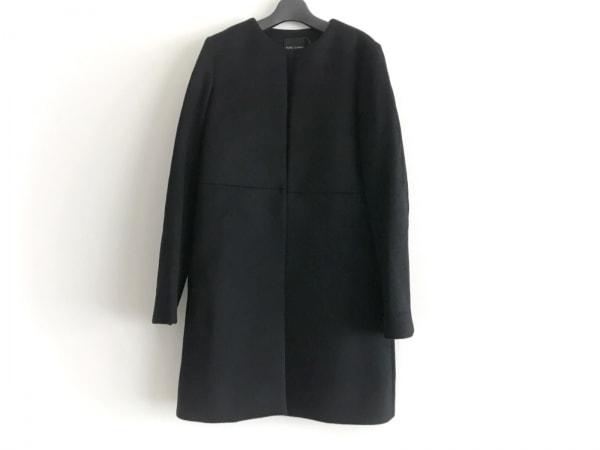 YOKO CHAN(ヨーコ チャン) コート サイズ36 S レディース美品  黒 冬物/ノーカラー