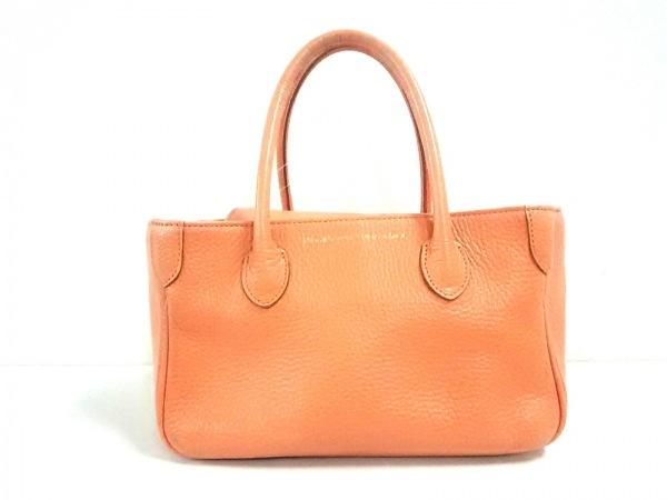 Accessoires(アクセソワ) トートバッグ美品  オレンジ レザー