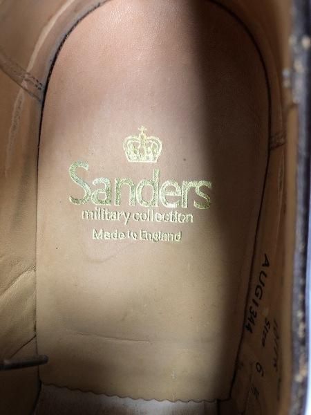 SANDERS(サンダース) シューズ 6 1/2 メンズ ダークブラウン レザー