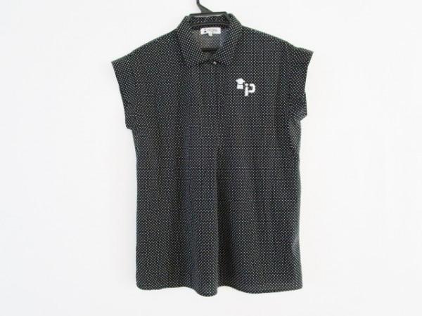 PICONE(ピッコーネ) 半袖シャツブラウス サイズ42 M レディース美品  黒×白