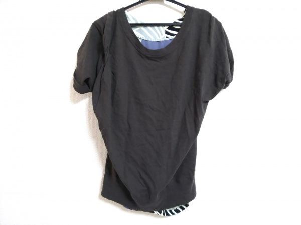 archi(アーキ) 半袖カットソー サイズS レディース 黒×マルチ