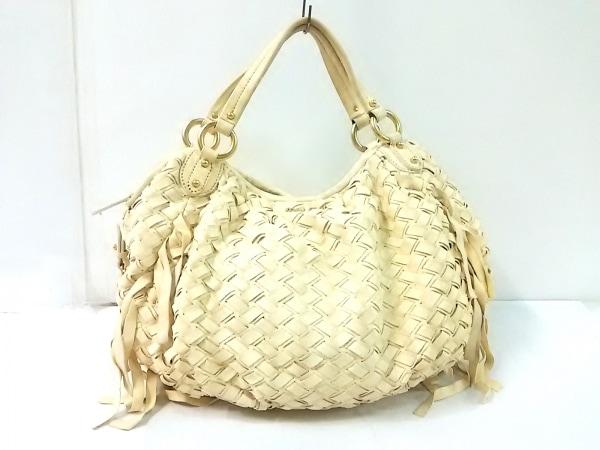 miumiu(ミュウミュウ) ハンドバッグ - アイボリー 編み込み レザー