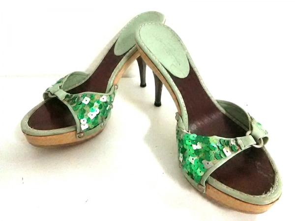 JILL STUART(ジルスチュアート) サンダル M レディース ライトグリーン×マルチ shoe