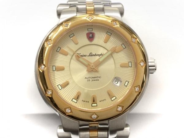 ランボルギーニ 腕時計美品  FERRUCCIO JUNIOR - メンズ 裏スケ/1000本限定/12Pダイヤ