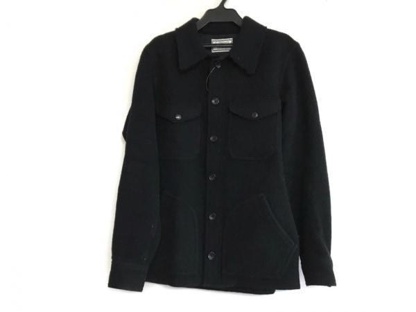ラグスマックレガー コート サイズS メンズ 黒 冬物/切りっぱなし加工/ショート丈