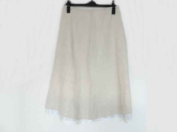 パラスパレス スカート サイズ2 M レディース美品  アイボリー×白×グレー
