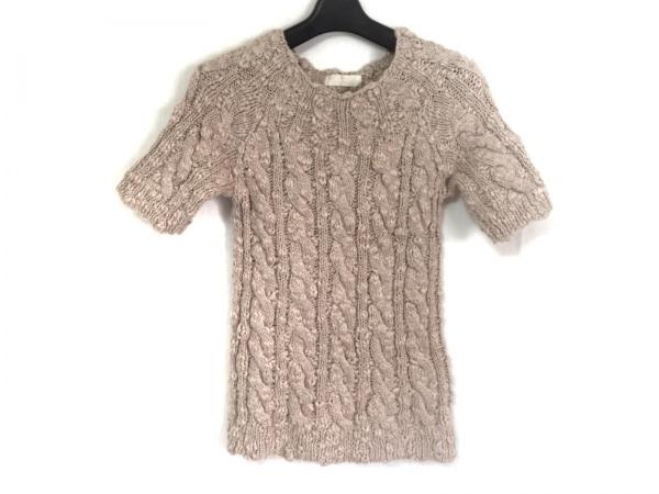 INGEBORG(インゲボルグ) 半袖セーター サイズM レディース ピンクベージュ