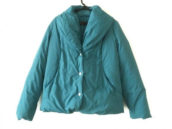 マリナスポーツ ダウンジャケット サイズ13 L レディース ライトブルー 刺繍