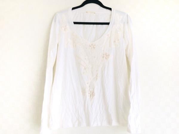 シェルビーノストリート 長袖Tシャツ サイズM メンズ美品  アイボリー 刺繍